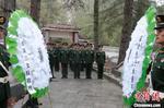 西藏武警官兵缅怀英烈坚定守护高原信念