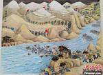 浙江嘉兴农民画艺人作23米长卷庆祝建党百年